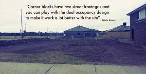 Dual Occupancy - Corner Block